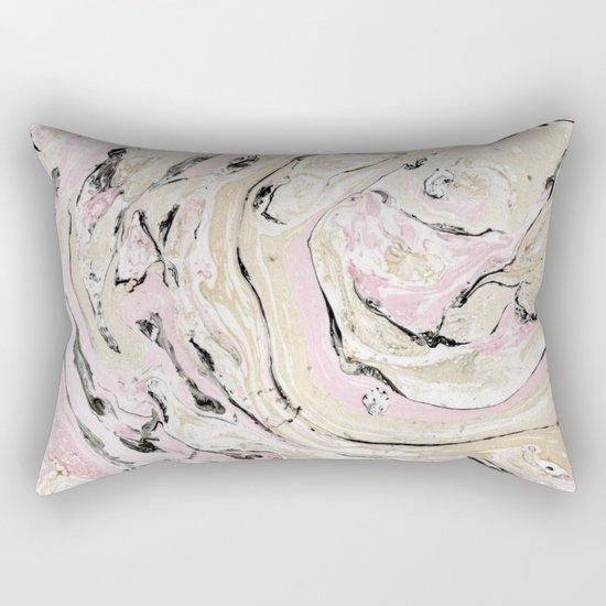 Pink and gold marble Rectangular Pillow
