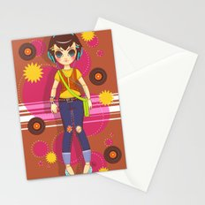 Radio Girl Stationery Cards