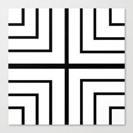 Square - Black and White Canvas Print