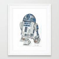 r2d2 Framed Art Prints featuring R2d2 by Iron Teflon