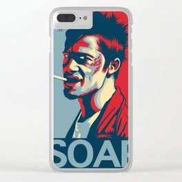 "Tyler Durden ""Hope"" Poster Clear iPhone Case"