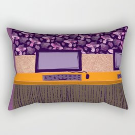 National Library of Australia: wall covering in the Main Reading Room Rectangular Pillow