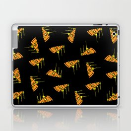 Pepperoni Pizza Dripping Cheese by the Slice Pattern (black) Laptop & iPad Skin