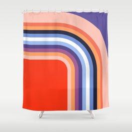 70s Stripes Rainbow 2 Shower Curtain