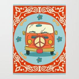 Hippie 70s Poster