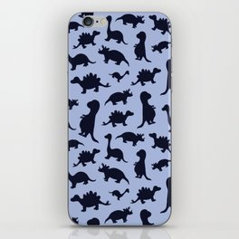 Dinosaurs cute pattern blue and navy iPhone Skin