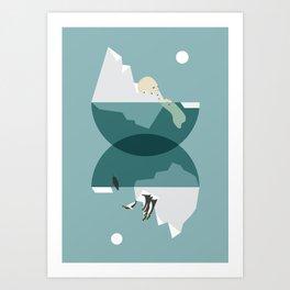 North and south Art Print