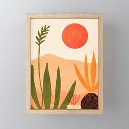 Golden California / Desert Landscape Illustration Framed Mini Art Print