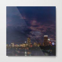 Boston at night Metal Print