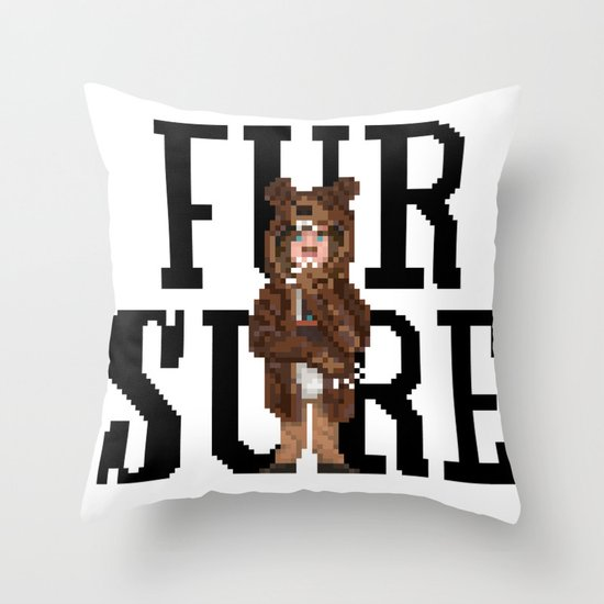 Fur Sure Throw Pillow