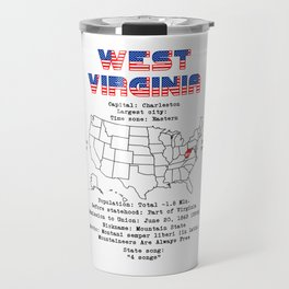 West Virginia Travel Mug