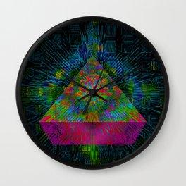 Pink Pyramid Landing Wall Clock