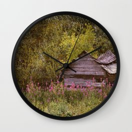 Hiding From The Past Wall Clock