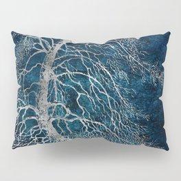Midnight Silver tree - Black Poplar Pillow Sham