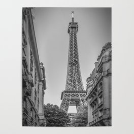 Parisian Flair   monochrome Poster