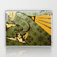 analog zine - song bird Laptop & iPad Skin