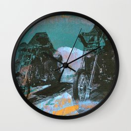 easy rider silkscreen green Wall Clock