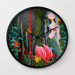 BTATO_Mermaid Wall Clock