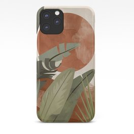 Tropical Leaf- Abstract Art 10 iPhone Case