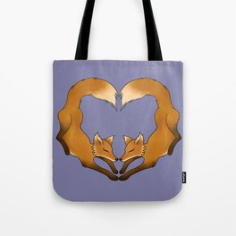 Heartful Foxes Tote Bag