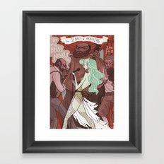 The Jenny Hanivers gig poster Framed Art Print
