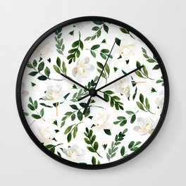 Magnolia Tree Wall Clock