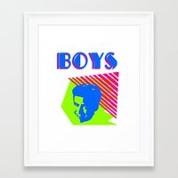 boys Framed Art Prints featuring Boys by Two Penny Prince