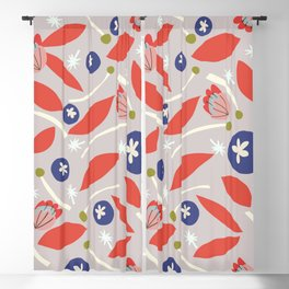 red white and blueberries Blackout Curtain
