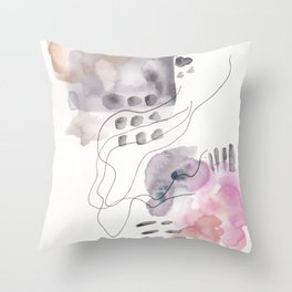 180805 Subtle Confidence 6| Colorful Abstract |Modern Watercolor Art Throw Pillow