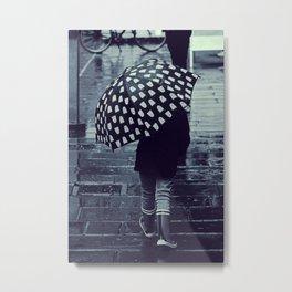 Rainy day of innocence - Fine Arts Monochrome Photography Metal Print