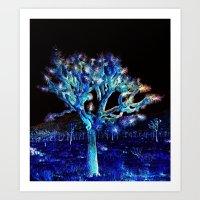 Joshua Tree VG Hues by CREYES Art Print