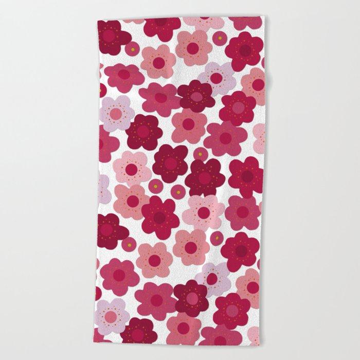 cherry blossom pop Beach Towel