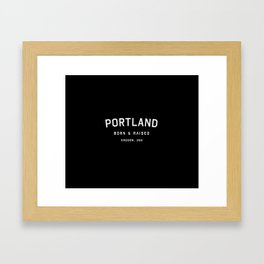 Portland - OR, USA (Arc) Framed Art Print