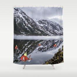 Magikarpe Diem Shower Curtain