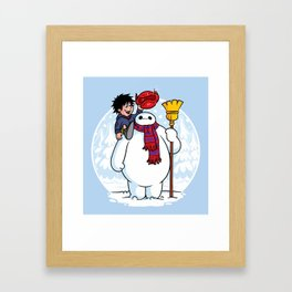 Inflatable Snowman Framed Art Print