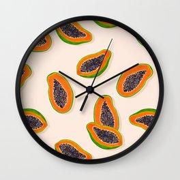 Papaya Twins - pink Wall Clock