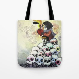 """""""Sugar Skull Song: You are Where You are Because of Them"""" 2011 Tote Bag"""