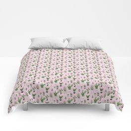 Cactus Love (in pink) Comforters