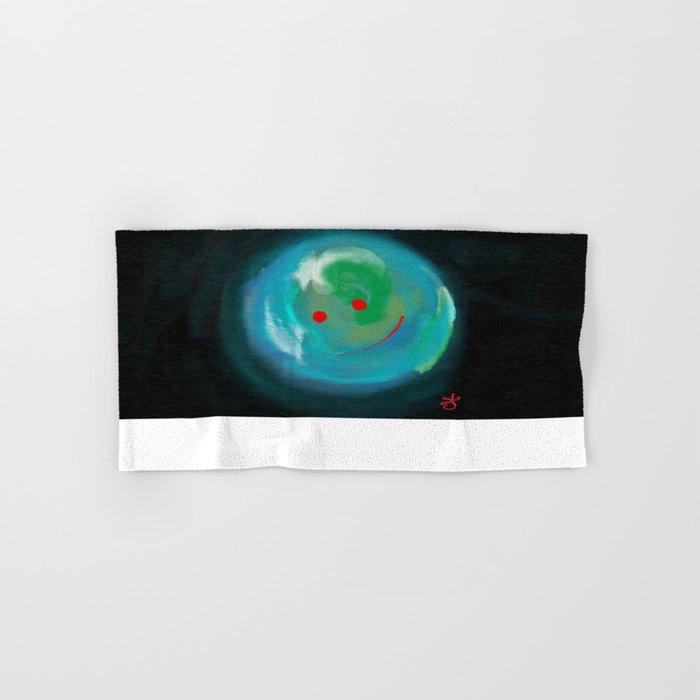Smiling Planet Hand & Bath Towel