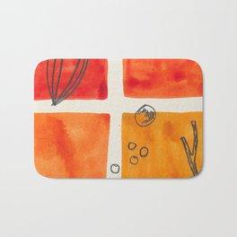 Orange / Sticks & Seeds Bath Mat
