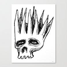 Monday Skull Canvas Print