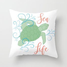 Sea Turtle Design Throw Pillow