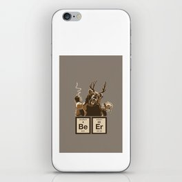 Funny chemistry bear discovered beer iPhone Skin