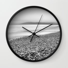 """""""Little stones at the silver sea"""" Wall Clock"""