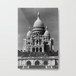 Rerto France Paris Sacre Coeur Basilica 1970 Metal Print