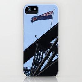 Sydney Harbour Bridge and Flag. Australia. iPhone Case