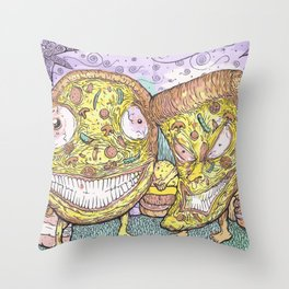 Pizza Bros Throw Pillow