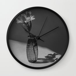 Shadow and flower Wall Clock