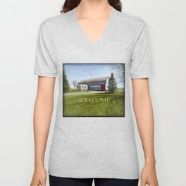 Barn & Geese - Welcome Unisex V-Neck