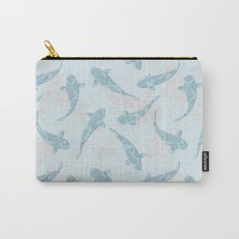 koi shoal blue Carry-All Pouch